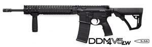 Daniel Defense DDM4 V5 LW Lightweight Carbine 02-123-16138-047, .223 Rem/5.56 Nato, 16 in LW Chrome Lined BBL, Semi-Auto, DD Adj Stock, Blk Finish, 12 in DD Rail, No Sights, 30 Rds