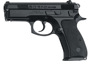 CZ Model P01 Pistol 91199, 9 MM, 3.86 in BBL, Sngl / Dbl, Blk Syn Grips, Fixed Sights, Blk Finish, Decocker, 14 + 1 Rds