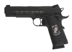 "Sig Sauer 1911 POW MIA Black Pistol 1911-45-POW-MIA-BLK, Full Size, 45 ACP, 5"" Barrel, SAO, Custom Hogue POW MIA Grips, Black Stainless Finish, 8 + 1 Rd"