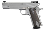 "Sig Sauer 1911 Target Stainless Pistol 1911-45-S-TGT, Full Size, 45 ACP, 5"" Barrel, SAO, Black Diamondwood Grips, Stainless Finish, 8 + 1 Rd"
