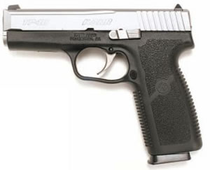 Kahr TP9 Semi-Auto Pistol TP4043, 40 SW, 4 in, Matte Stainless / Black Poly, 8+1 Rd, 2 Mags, Combat Sights