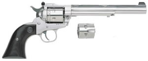 Ruger Single Six KNR717H Hunter Revolver 0663, 17 HMR, 7.5 in, Stainless / Laminated, 6 Rd