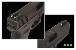 TruGlo TG131MPT TFO Fiber Optic Sight, Green, For Smith & Wesson M&P