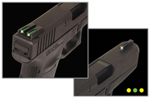 TruGlo TG131MPTY TFO Fiber Optic Sight, Green Front/Yellow Rear, For Smith & Wesson M&P