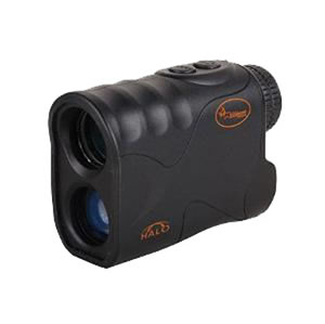 WGI Halo Laser Range Finder R400, 6x, 24mm,Black, w/Belt Case, Neck Lanyard, Lens Cloth