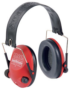 Helvetica Trading USA SR112 Electronic Stereo Earmuffs VBSR00612, NRR 20 dB, Red
