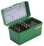 MTM H50RM10 50 Round Medium Rifle Ammo Box, Green