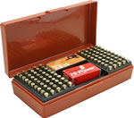 MTM SB20032 200 Round 22 Long Rifle Ammo Box, Rust