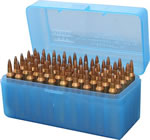 MTM RLLD5024 50 Round Blue Large Rifle Ammo Box