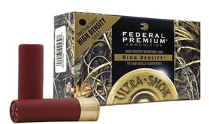 Federal Premium Ultra Shok High Density PHD2974, 20 Gauge, 3 in, 1 oz, 1350 fps, #4 Tungsten Shot, 10 Rd/bx