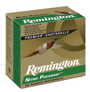 Remington Nitro Pheasant NP124, 12 Gauge, 2 3/4 in, 1 1/4 oz, 1400 fps, #4 Copper Plated Lead Shot, 25 Rd/bx, Case of 10 Boxes