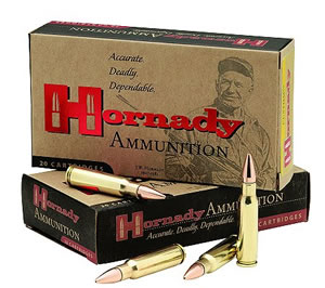 Hornady Rifle Ammunition 8146, 6.8 mm Remington, Boat Tail Hollow Point, 110 GR, 2550 fps, 20 Rd/bx