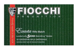 Fiocchi Rifle Shooting Dynamics Ammunition 223B, 223 Remington, Pointed Soft Point, 55 GR, 3240 fps, 20 Rd/bx