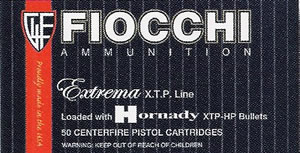Fiocchi Extrema Handgun Ammunition 40XTP, 40 S&W, XTP Hollow Point, 155 GR, 1180 fps, 50 Rd/bx