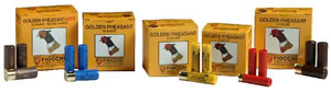 Fiocchi Golden Pheasant 203GP, 20 Gauge, 3 in, 1 1/4 oz, 1200 fps, #4 Nickel-Plated Lead Shot, 25 Rd/bx, Case of 10 Boxes