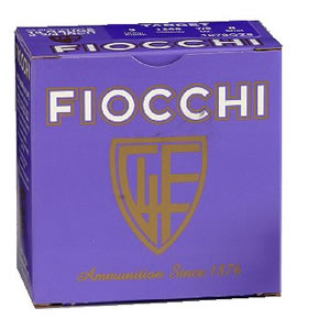 Fiocchi Premium Target 12CRSR, 12 Gauge, 2 3/4 in, 1 oz, 1300 fps, #8 Lead Shot, 25 Rd/bx, Case of 10 Boxes