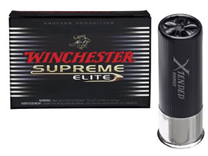 Winchester Supreme Extended Range High Density Waterfowl SWXR124, 12 Gauge, 2 3/4 in, 1 1/4 oz, 1450 fps, #4 High Density Shot, 10 Rd/bx, Case of 10 Boxes