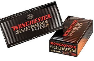 Winchester Supreme Elite Centerfire Rifle Ammunition SXP300S, 300 WSM, Supreme Elite XP3, 180 GR, 2970 fps, 20 Rd/bx