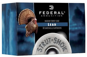 Federal Premium Strut Shok Turkey FT1586, 12 Gauge, 3 in, 1 7/8 oz, 1210 fps, #6 Lead Shot, 10 Rd/bx
