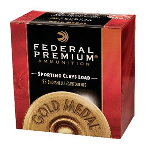 Federal Premium Gold Medal Sporting Clay SC17775, 12 Gauge, 2 3/4 in, 1 oz, 1240 fps, #7 1/2 Lead Shot, 25 Rd/bx, Case of 10 Boxes