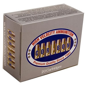 Corbon Self Defense Cartridges SD38090, 380 ACP + P, Jacketed Hollow Point, 90 GR, 1050 fps, 20 Rd/bx