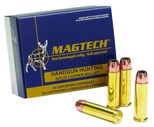 Magtech Handgun Hunting Ammunition 38E, 38 Special, Semi-Jacketed Hollow Point, 158 GR, 807 fps, 50 Rd/bx