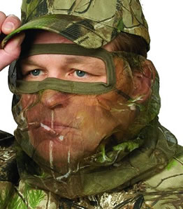 Hunters Specialties Realtree All Purpose Green 3/4 Mesh Face Mask 05305