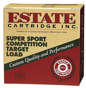 Estate Super Sport Target SS288, 28 Gauge, 2 3/4 in, 3/4 oz, 1200 fps, #8 Lead Shot, 25 Rd/bx, Case of 10 Boxes
