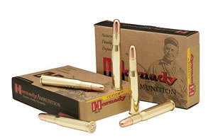 Hornady Rifle Ammunition 8264, 470 Nitro Express, Dangerous Game Solid, 500 GR, 2150 fps, 20 Rd/bx