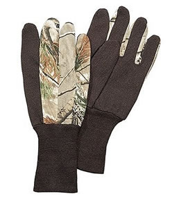 Hunters Specialties Jersey Dot Grip Realtree All Purpose Gloves 05421