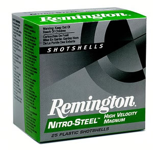 Remington Nitro Steel Magnum NS12SB, 12 Gauge, 2 3/4 in, 1 1/4 oz, 1275 fps, #BB Steel Shot, 25 Rd/bx, Case of 10 Boxes
