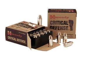 Hornady Critical Defense Ammunition 90500, 357 Remington Magnum, Critical Defense, 125 GR, 1500 fps, 25 Rd/bx