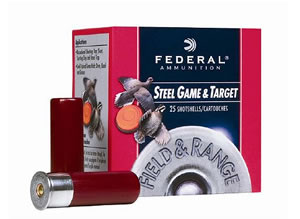 Federal Field & Range Steel Shotshells FRS4137, 410 Gauge, 3 in, 3/8 oz, 1400 fps, #7 Steel Shot, 25 Rd/bx, Case of 10 Boxes
