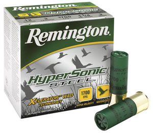 Remington HyperSonic Steel HSS12354, 12 Gauge, 3 1/2 in, 1 3/8 oz, 1700 fps, #4 Steel Shot, 25 Rd/bx, Case of 10 Boxes