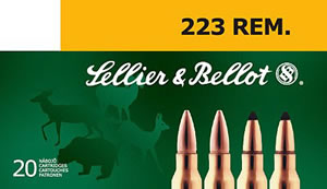 Sellier & Bellot Ammunition V330122U, 222 Remington, Soft Point, 50 GR, 3169 fps, 20 Rd/bx