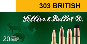 Sellier & Bellot Ammunition SB303A 303 British, Full Metal Jacket, 180 GR, 2438 fps, 20 Rd/bx