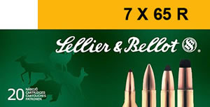 Sellier & Bellot Ammunition SB765RA 7 X 65R, SPCE (Soft Point Cut-through Edge, 173 GR, 2379 fps, 20 Rd/bx