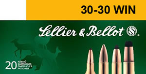 Sellier & Bellot Ammunition V330352U, 30-30 Winchester, Soft Point, 150 GR, 2820 fps, 20 Rd/bx