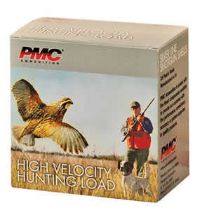 PMC High Velocity Hunting Loads HV125, 12 Gauge, 2 3/4 in, 1 1/4 oz, 1400 fps, #5 Lead Shot, 25 Rd/bx, Case of 10 Boxes