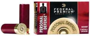 Federal Personal Defense Shotshells PD2564B, 20 Gauge, 2 3/4 in, 24 Pellets, 1100 fps, #4 Buckshot, 5 Rd/bx