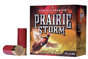 Federal Premium Prairie Storm Shotshells PF258FS6, 20 Gauge, 3 in, 1 1/4 oz, 1300 fps, #6 Lead Shot, 25 Rd/bx, Case of 10 Boxes