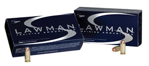 Speer Lawman Handgun Ammunition 53615, 9 mm, Full Metal Jacket, 115 GR, 1200 fps, 50 Rd/bx