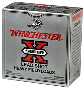 Winchester Super X Heavy Game XU12H75, 12 Gauge, 2 3/4 in, 1 1/8 oz, 1255 fps, #7 1/2 Lead Shot, 25 Rd/bx, Case of 10 Boxes