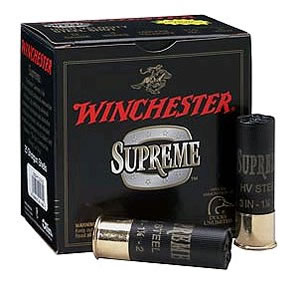 Winchester Supreme High Velocity SSH10BBB, 10 Gauge, 3 1/2 in, 1 3/8 oz, 1450 fps, #BBB Steel Shot, 25 Rd/bx