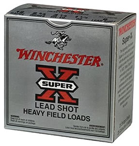 Winchester Super X Heavy Field XU12SP8, 12 Gauge, 2 3/4 in, 1 1/4 oz, 1220 fps, #8 Lead Shot, 25 Rd/bx, Case of 10 Boxes