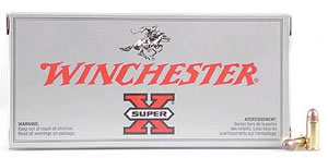 Winchester Super-X Centerfire Pistol Ammunition X3576P, 357 Remington Mag, Jacketed Hollow Point, 125 GR, 1450 fps, 50 Rd/bx