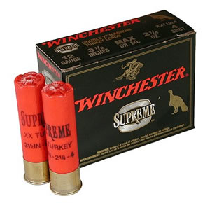 Winchester Supreme XX Magnum Turkey X123MXCT4, 12 Gauge, 3 in, 2 oz, 1125 fps, #4 Lead Shot, 10 Rd/bx
