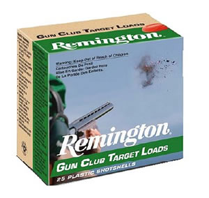 Remington Gun Club Target Loads GC208, 20 Gauge, 2 3/4 in, 7/8 oz, 1200 fps, #8 Lead Shot, 25 Rd/bx, Case of 10 Boxes