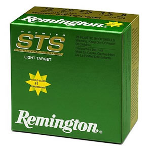Remington Premier STS Target Loads STS12L8, 12 Gauge, 2 3/4 in, 1 1/8 oz, 1145 fps, #8 Lead Shot, 25 Rd/bx, Case of 10 Boxes