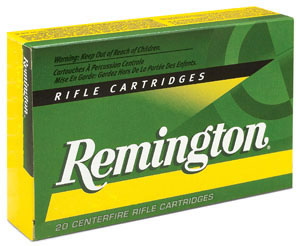 Remington Centerfire Rifle Cartridges R450B1, 450 Bushmaster, Soft Point Core Lokt, 250 GR, 2200 fps, 20 Rd/bx